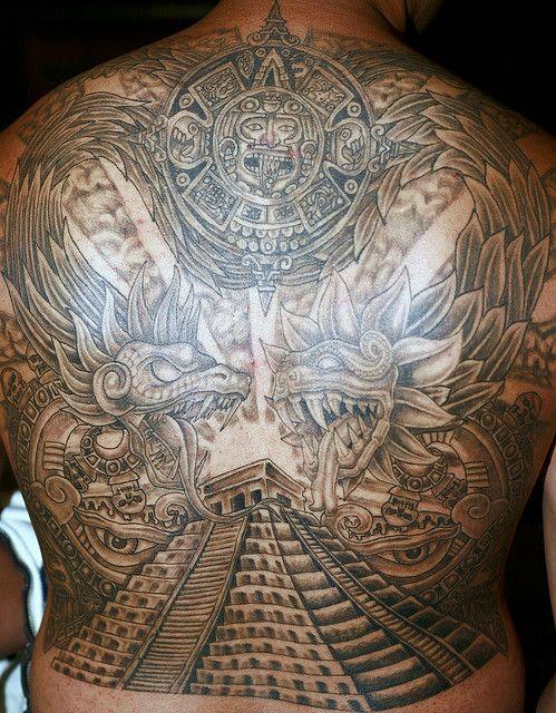 560118aa6 Aztec Tattoos | Full Back With Aztec Tattoos #cultural #tattoo #tattoos