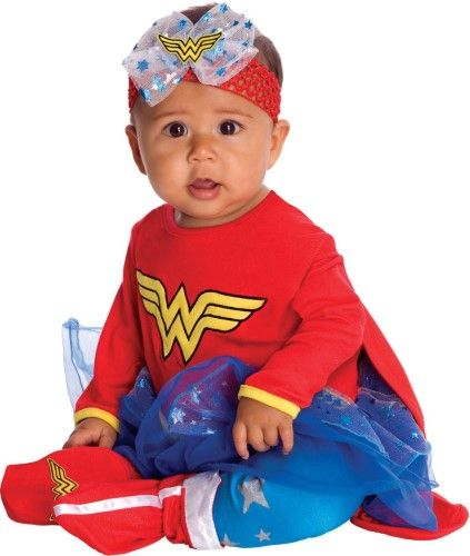 Wonder Woman Onesie Infant Halloween Costume 6-12 Months Infant - halloween costume ideas for infants