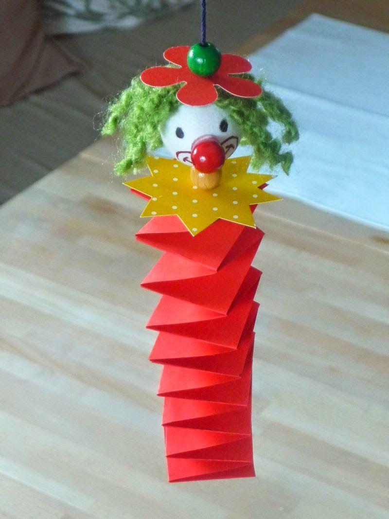 Meine grüne Wiese: Clown, Faschingsdeko Das schönste Bild für Karneval basteln vorlagen , das zu #kunstoghåndverk