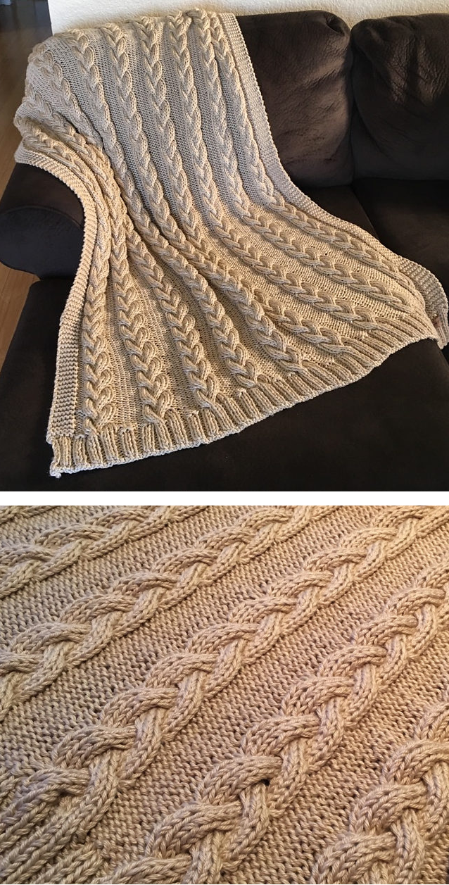 Cable Afghan Knitting Patterns | Aran weight yarn, Knit patterns and ...