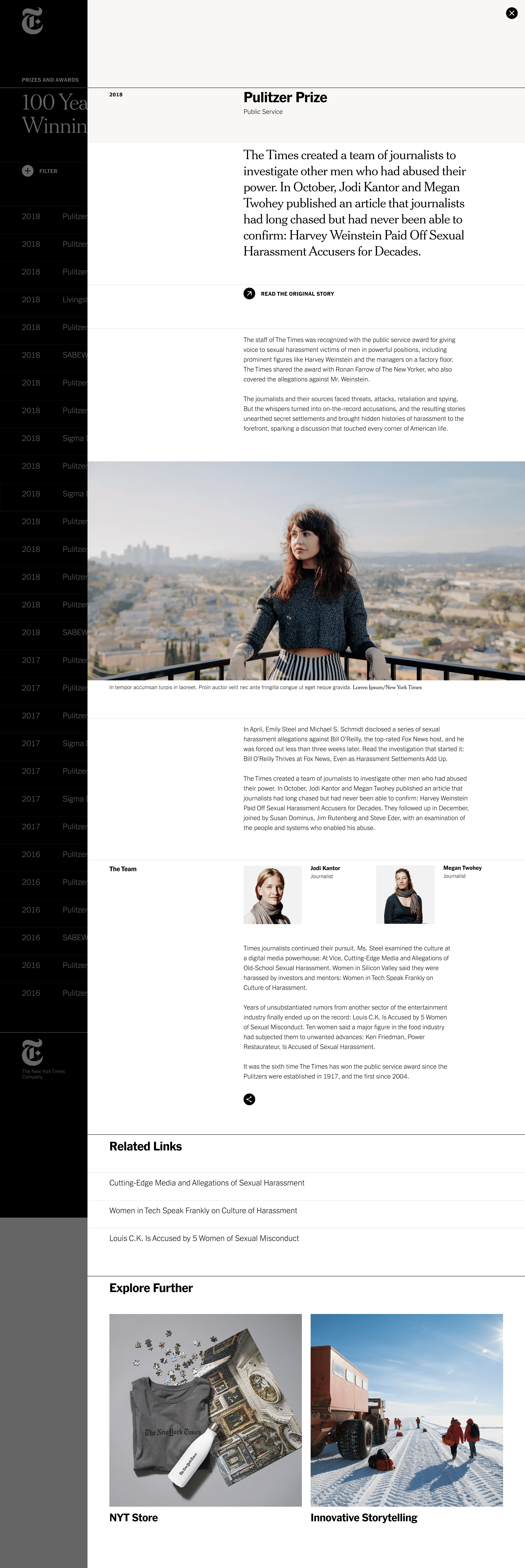 02 25d Prizes Modal 2x B Png 2018 The New York Times Company Archive Area 17 The New York Times Prizes New York Times