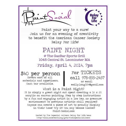 Paint Night\/Relay flyer Paint Night Ideas Pinterest - fundraising flyer