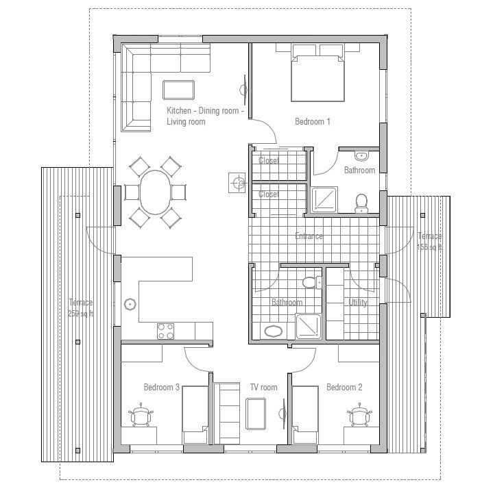 Affordable Home With Three Bedrooms Logical Floor Layout
