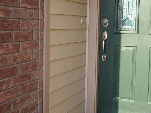 Transition From Brick To Siding At The Front Door At Destefano Remodeling In North Texas We Desire To Be Y Orange Brick Houses Front Door Colors Orange Brick