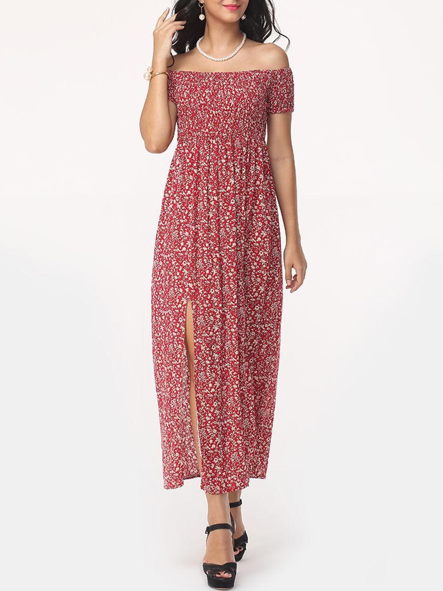Adorewe fashionmia fashionmiadesigner womens floral side slit
