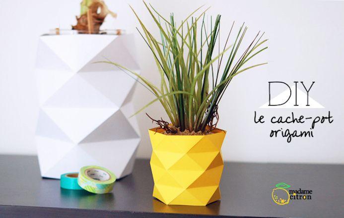 Un cache-pot en papier origami