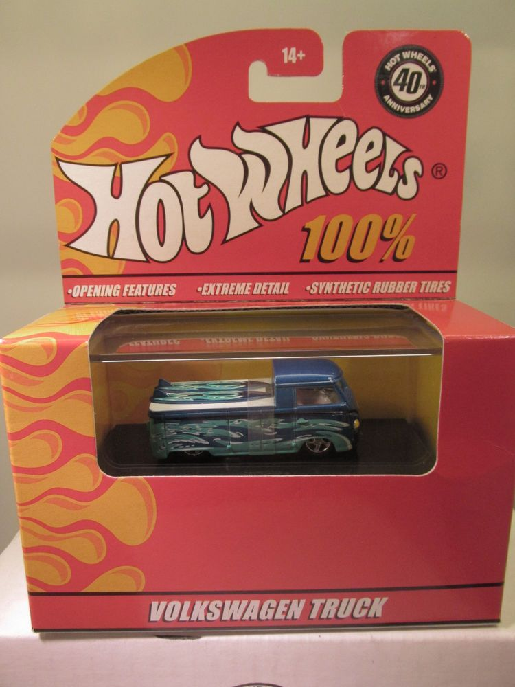 Hot Wheels 100 Red Box Custom Volkswagen T 1 Truck Bus Brand