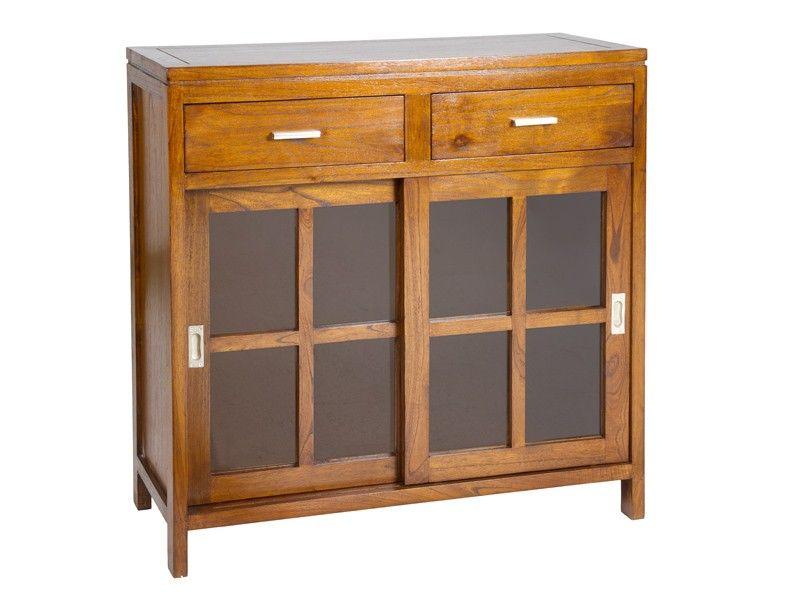 Aparador pequeño de madera color nogal. Un funcional mueble rústico ...