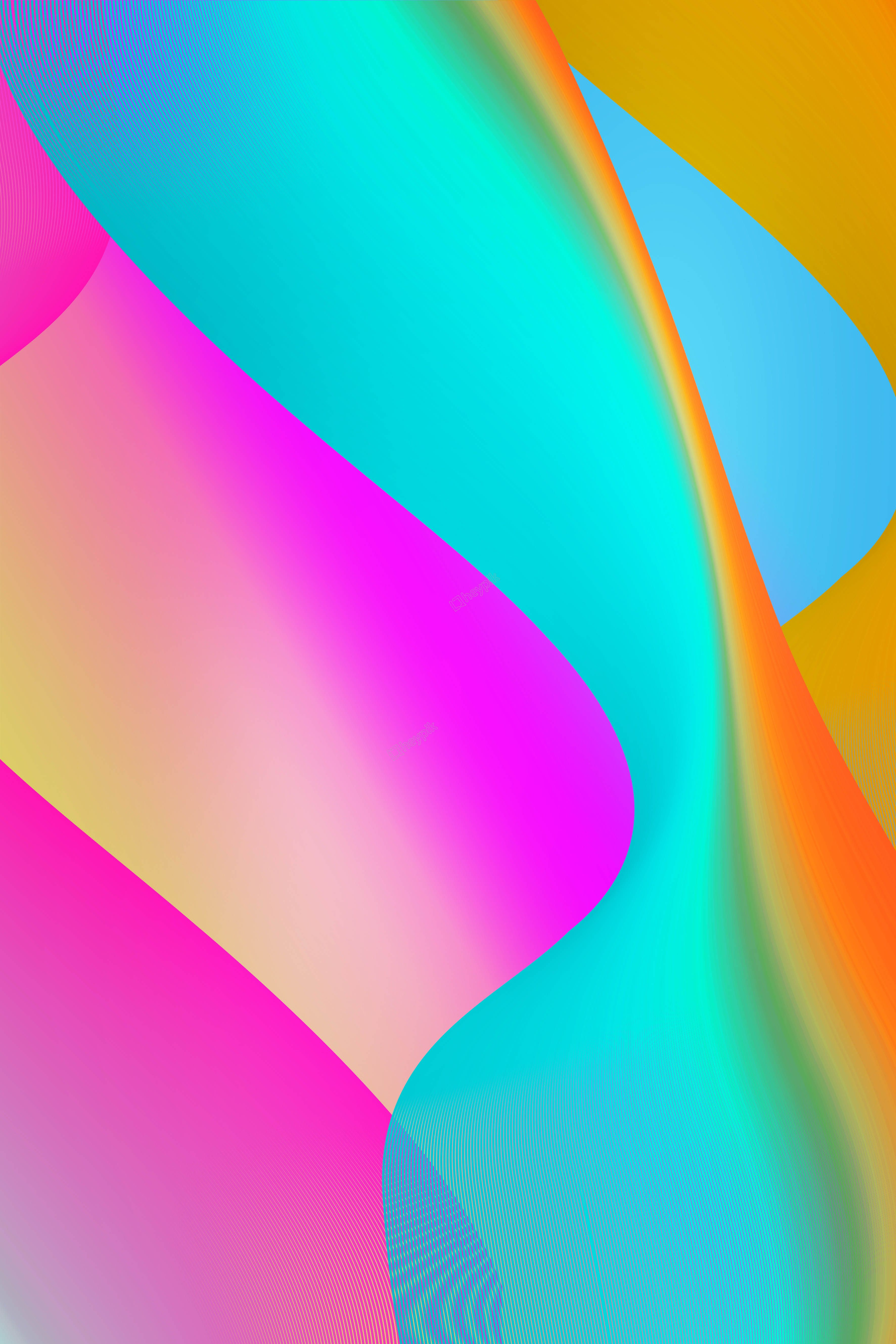 Gradient Shading Fluid Color Background Poster Blue Texture