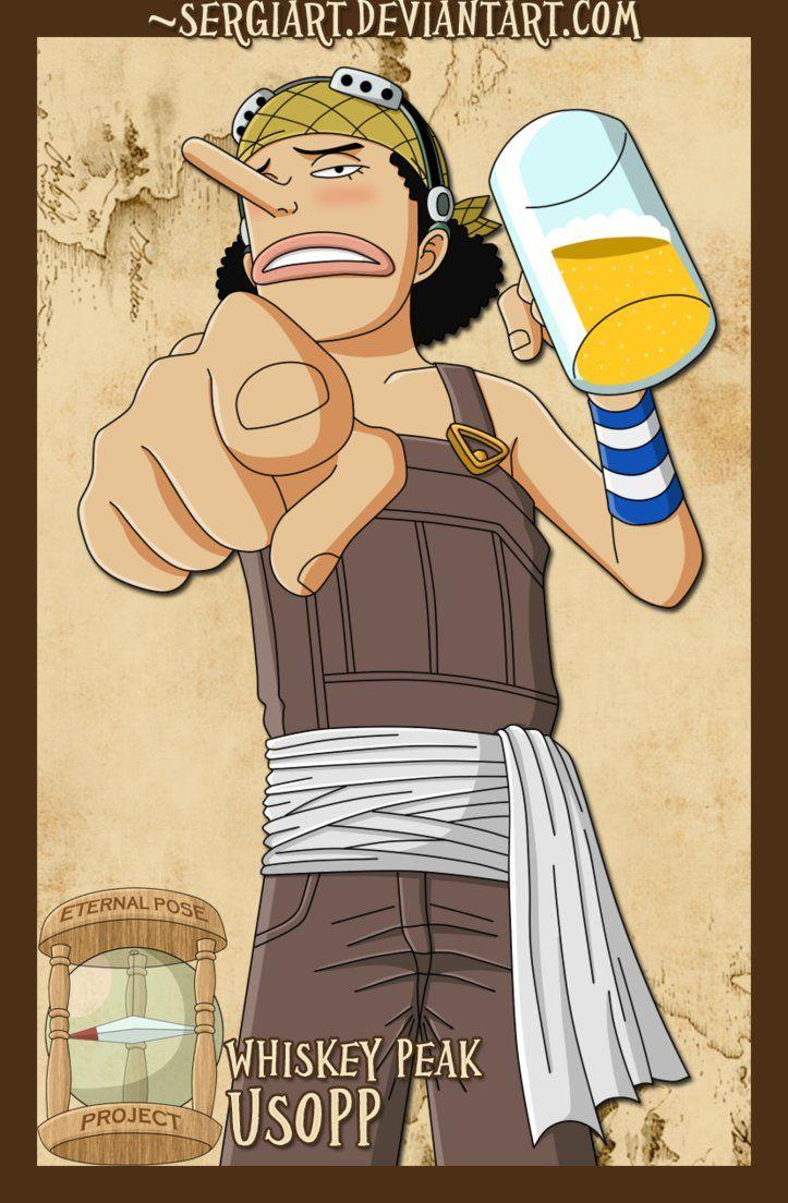 Epp Whiskey Peak Usopp Usopp One Piece Anime One Piece