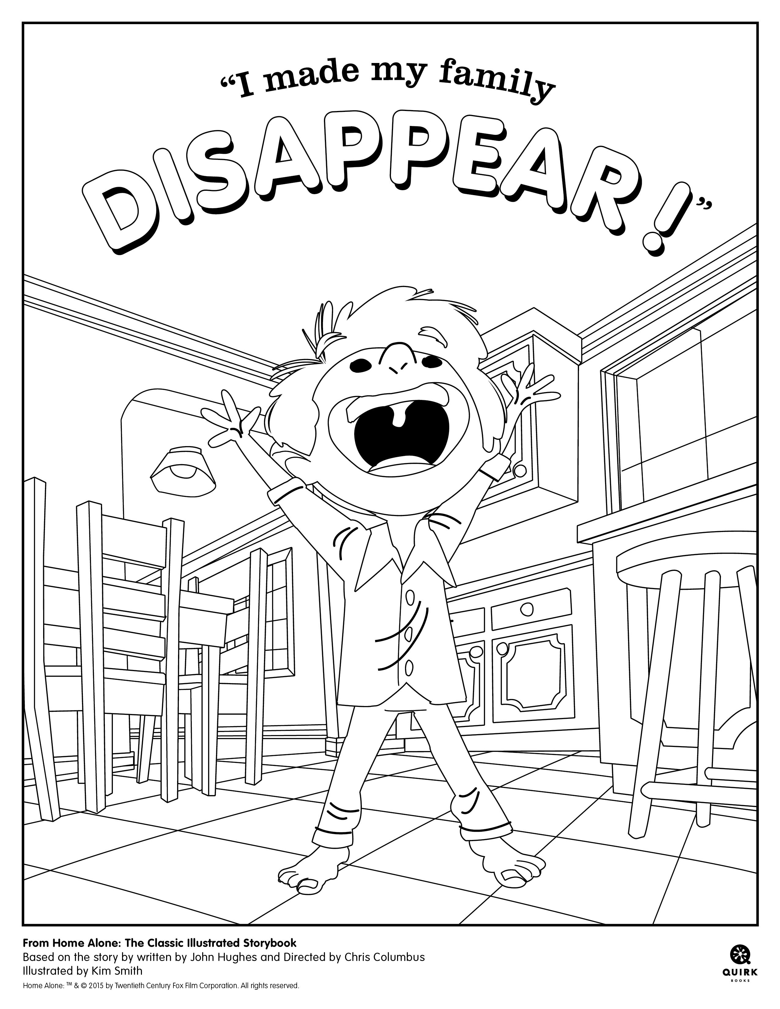Coloring page from Quirk Books\' Home Alone #picturebook #holidays ...