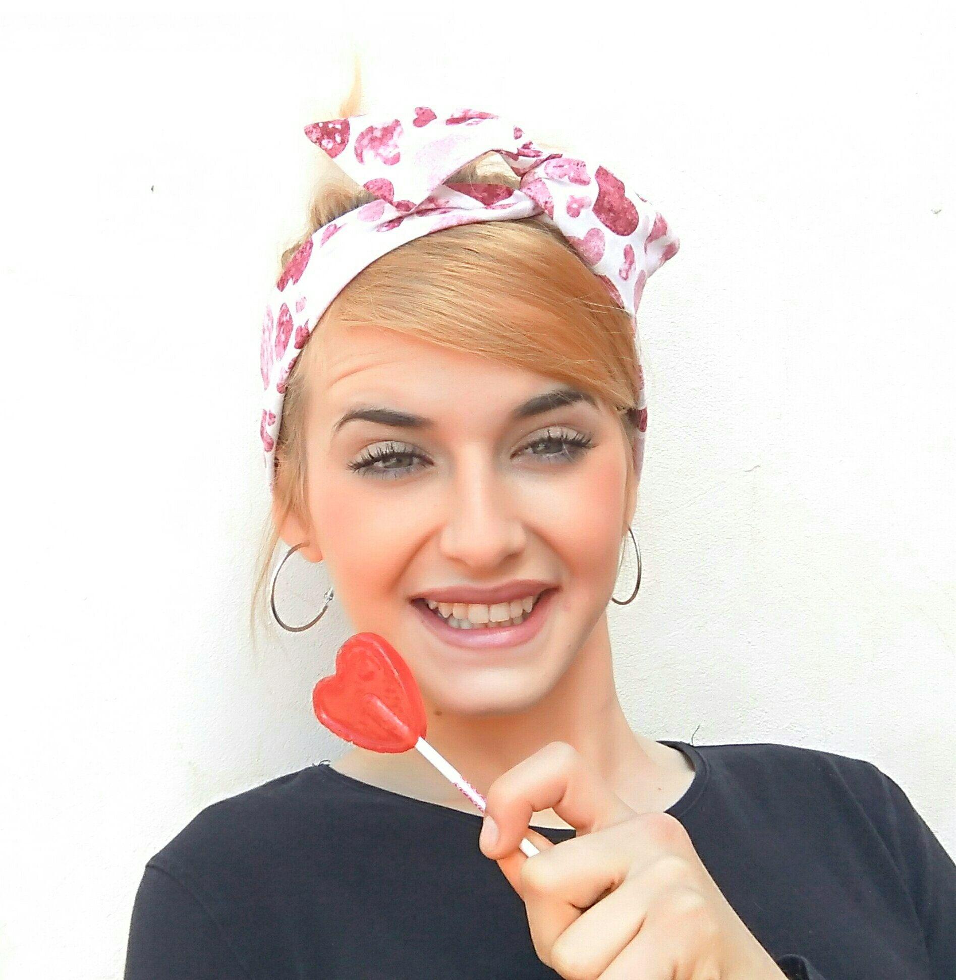 Heart Dolly bow headband 1166c66b3bf
