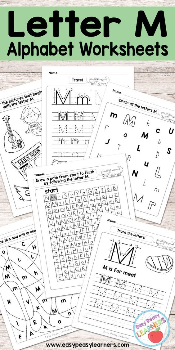 Free Printable Letter M Worksheets Alphabet Worksheets Series