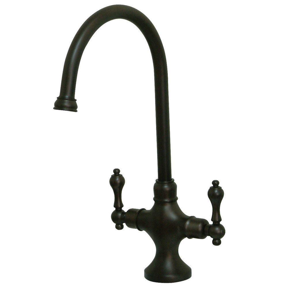 Kingston Brass Oil Rubbed Bronze 2 Handle Single Hole Kitchen Faucet