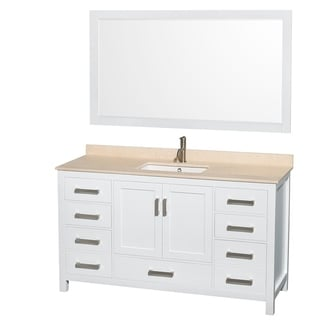 Wyndham Collection Sheffield 60 Inch Single White Vanity 58 Inch