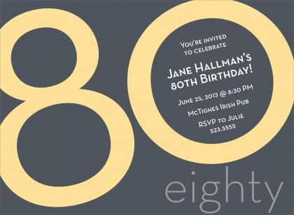 80th Birthday Invitations Male