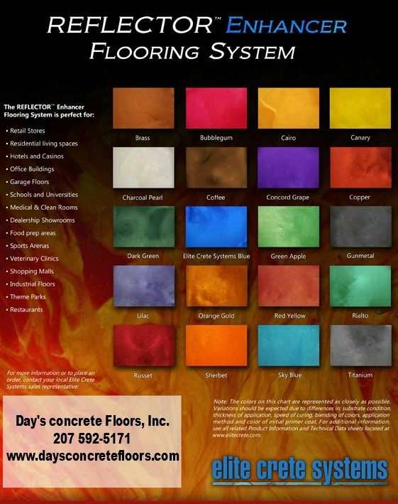 Reflector enhancer epoxy color chart maine flooring installer also rh pinterest