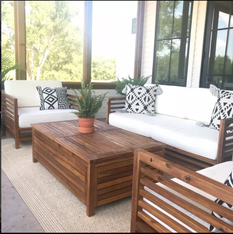 The Finds To Take Your Patio To The Next Level Backyard Furniture Wood Patio Furniture Patio Furnishings