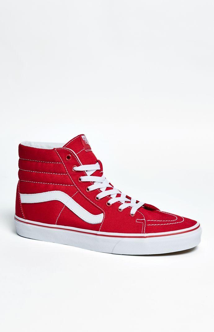92200021a00 Vans Canvas Sk8-Hi Red Shoes