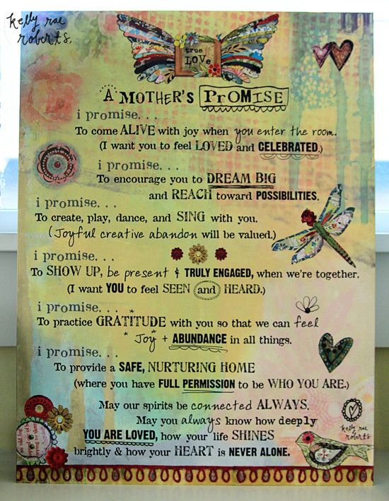 Quirks of Art | A Mother\'s Promise - Motherhood Manifesto | DEMDACO ...