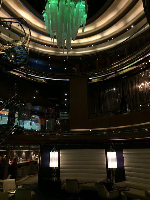 Main Atrium from deck 1 (Chandelier changes colors)