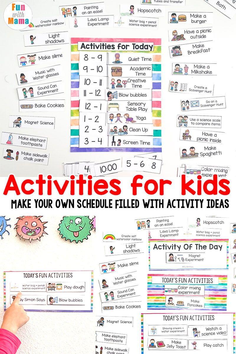 Kids Schedule - Activity planning + homeschool