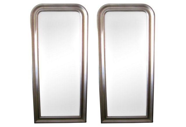 Large Rectangular Mirrors, Pair