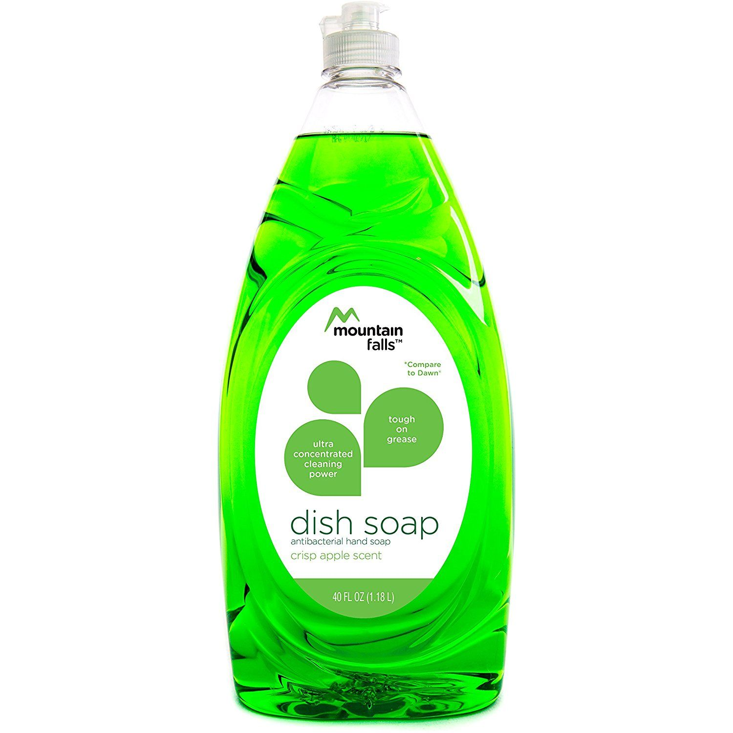 Mountain Falls Dish Soap Crisp Apple 40 Fluid Ounce You Can