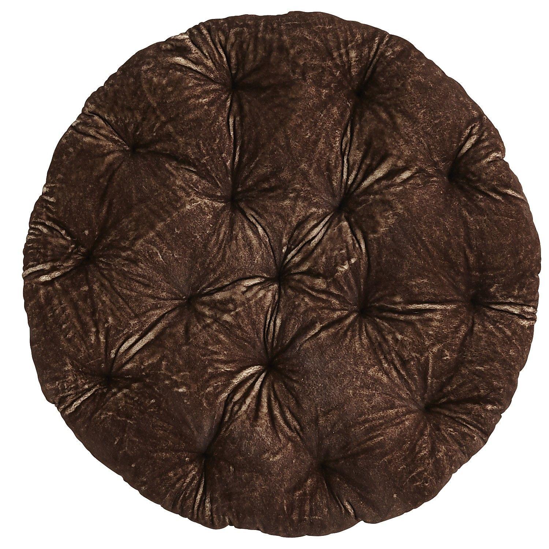 Faux Fur Papasan Cushion Brown Papasan Cushions