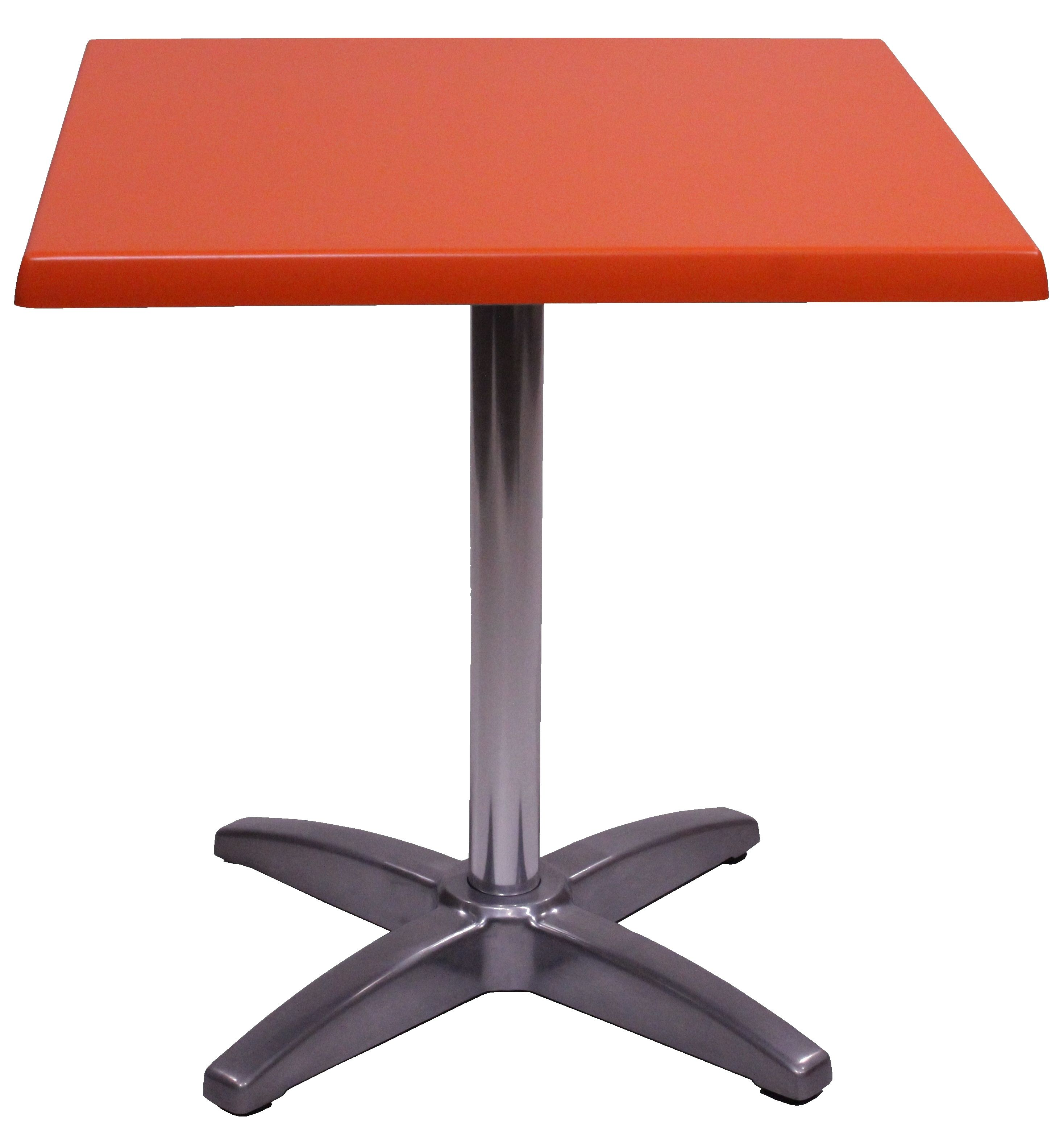Table Exterieur De Restaurant Gueridon Solea 70x70 Plateau Stratifie Moule Orange Usage Interieur