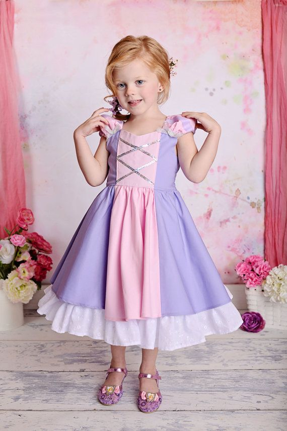 Magnífico Vestido de princesa disfraz Rapunzel por SoSoHippo ...