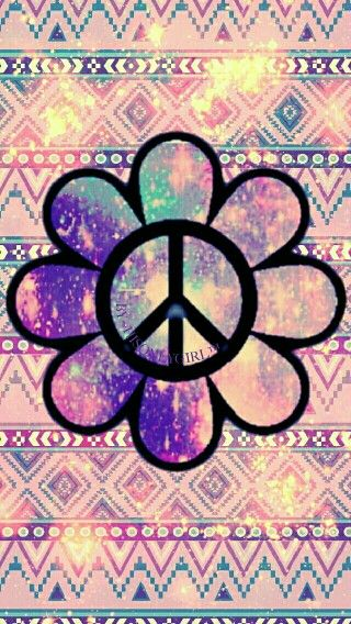 Peace Out Flower Power w/Tribals Galaxy wallpaper, Phone