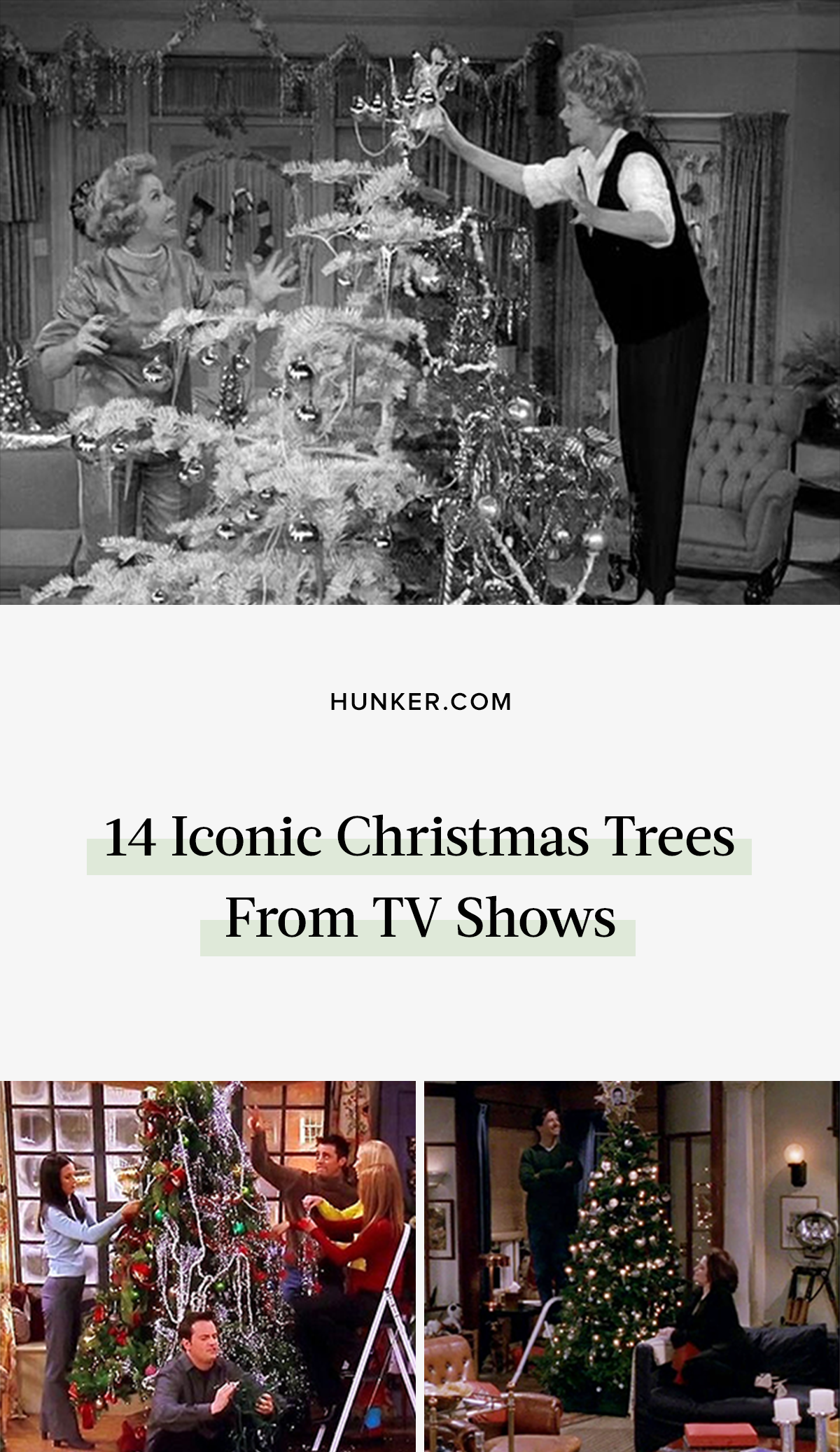 In addition to seeing how our favorite characters celebrate Christmas, we love seeing what their tree looks like. Here's a look at some of our favorite trees throughout the years. #hunkerhome #christmastree #televisionchristmastree #iconicchristmastree #christmastree