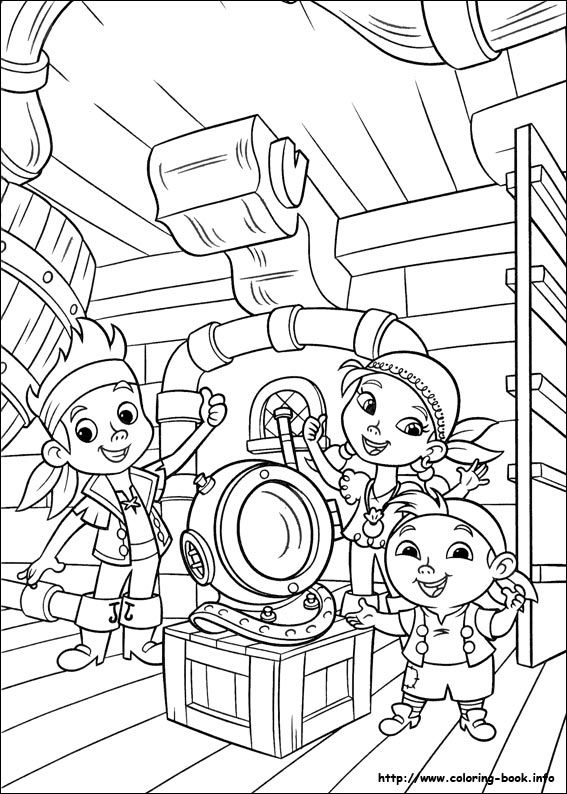 Jake and the Never Land Pirates coloring picture  Coloring