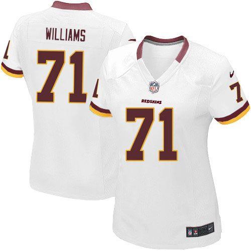 Women Nike Washington Redskins  71 Trent Williams Limited White NFL Jersey  Sale 288bcc393