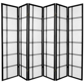 "Bungalow Rose 70"" x 84"" Leiva 6 Panel Room Divider"
