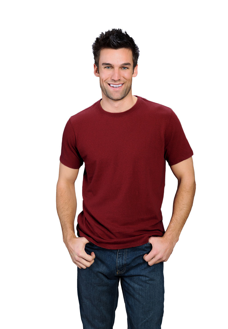 ad1830561 wine hemp t-shirt for men. This organic cotton hemp mens shirt is rich and  sultry like a deep red wine. The closest color match is pantone 1815c.