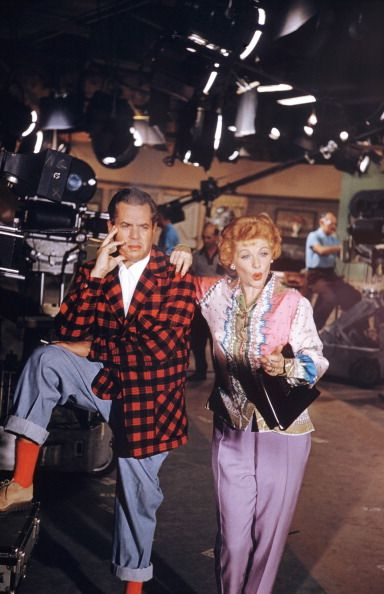 Lucille Ball and Desi Arnaz on the launch of Desilu Studios pondering their new venture