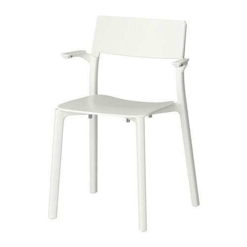 Janinge Armchair White Met Afbeeldingen Eetkamerstoelen Ikea