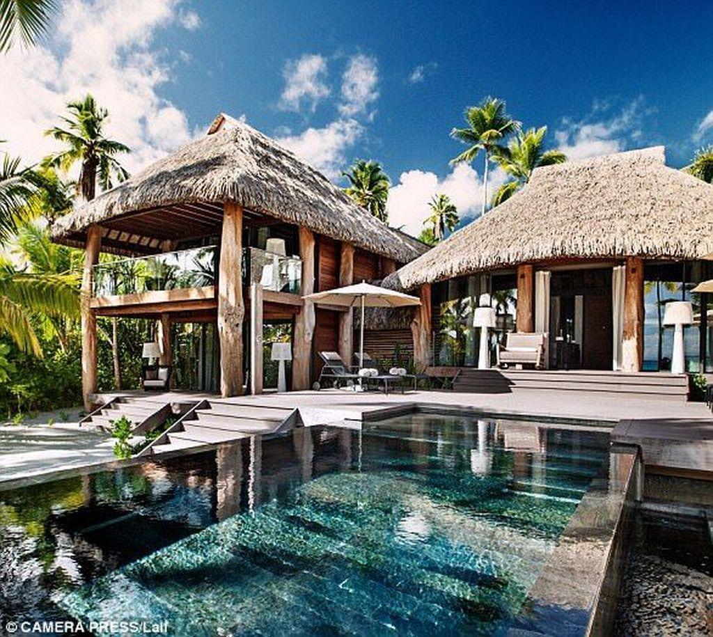 40 Awesome Tropical Beach House Design Ideas Tropical Beach Houses Beach House Design Bali House