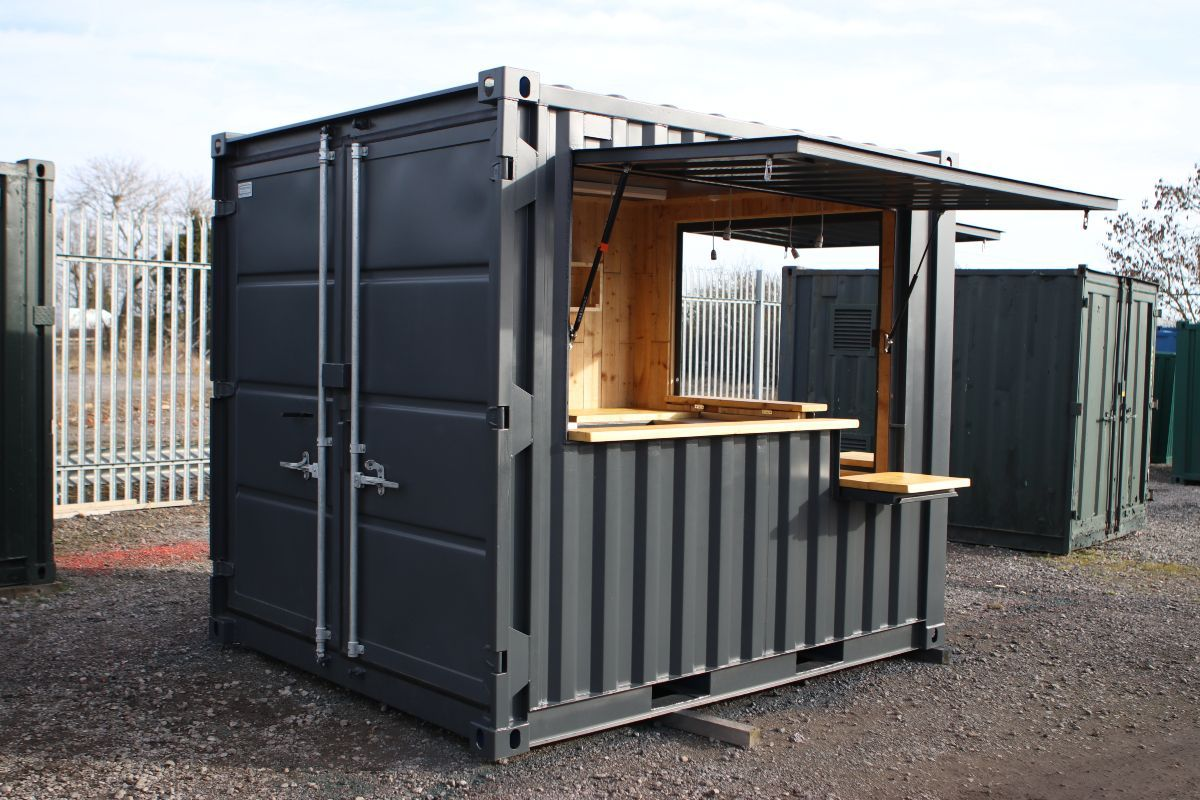 A New 10ft Shipping Container Converted Into A Mobile Coffee Shop In 2020 Container Coffee Shop Mobile Coffee Shop Container Cafe