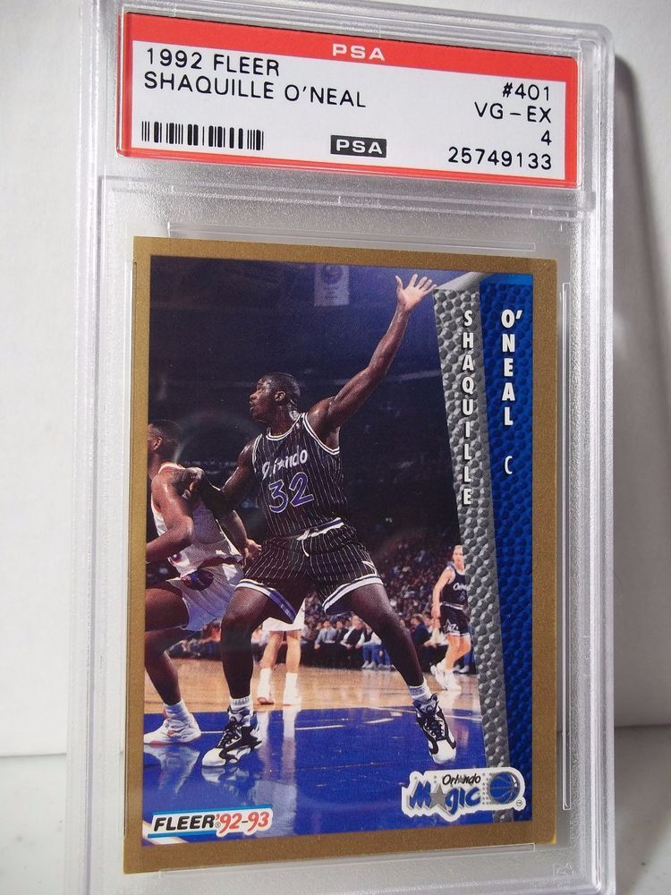 1992 fleer shaquille oneal rc psa vgex 4 basketball card