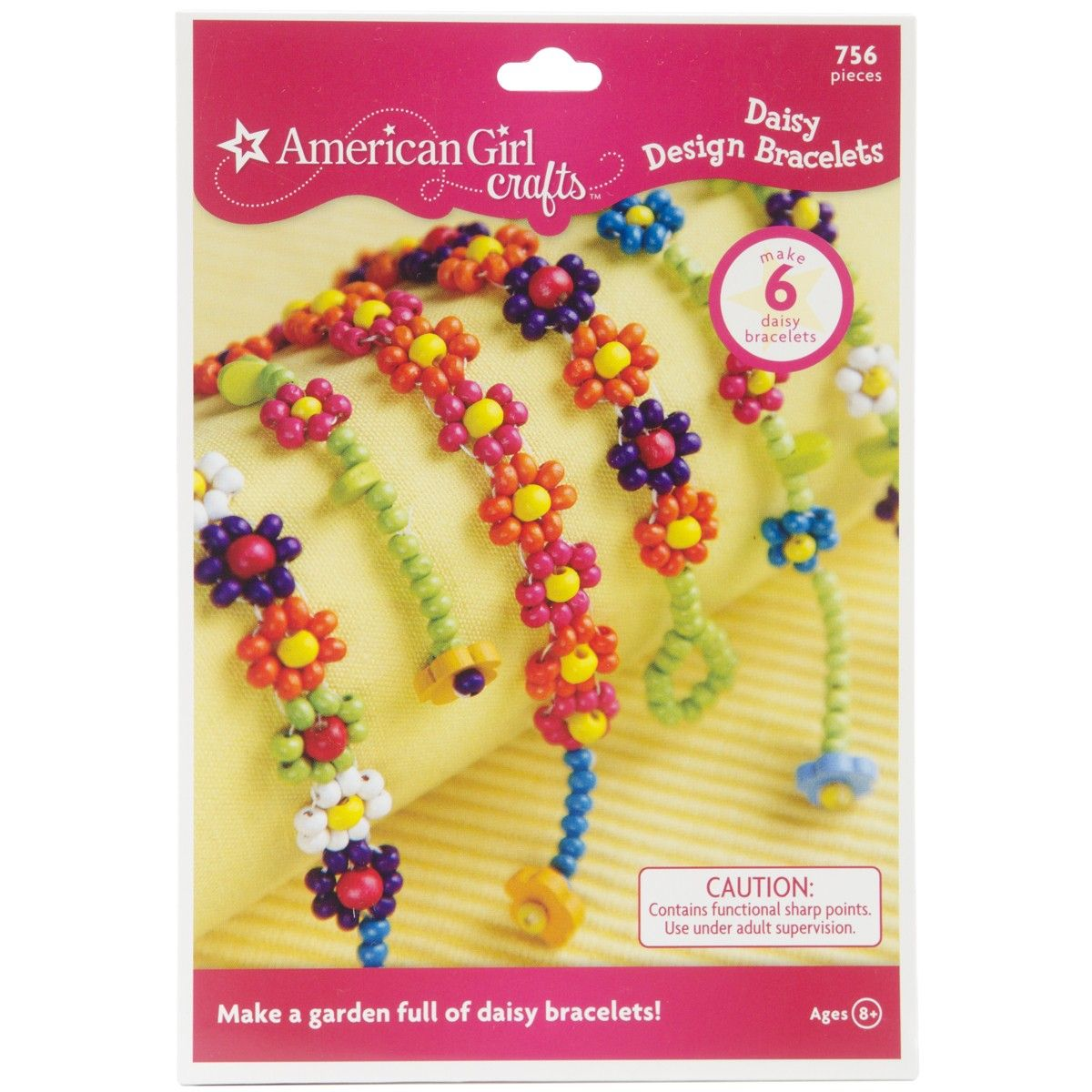 Daisy design bracelets bead two different styles of colorful daisy