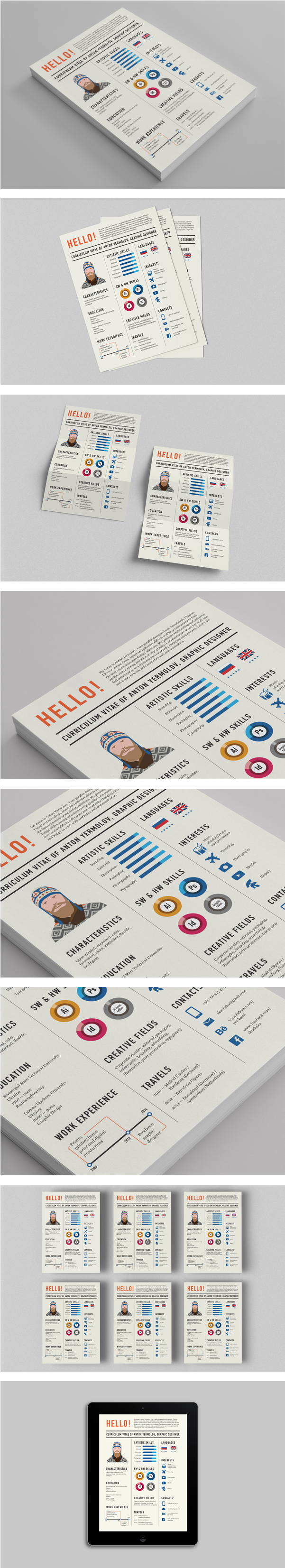 Newspaper Resume Design by Anton Yermolov