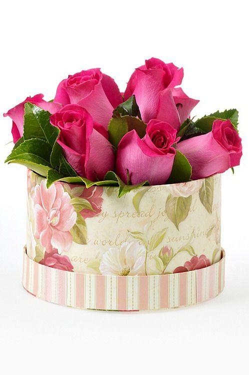 beautiful box, beautiful container for beautiful roses ...