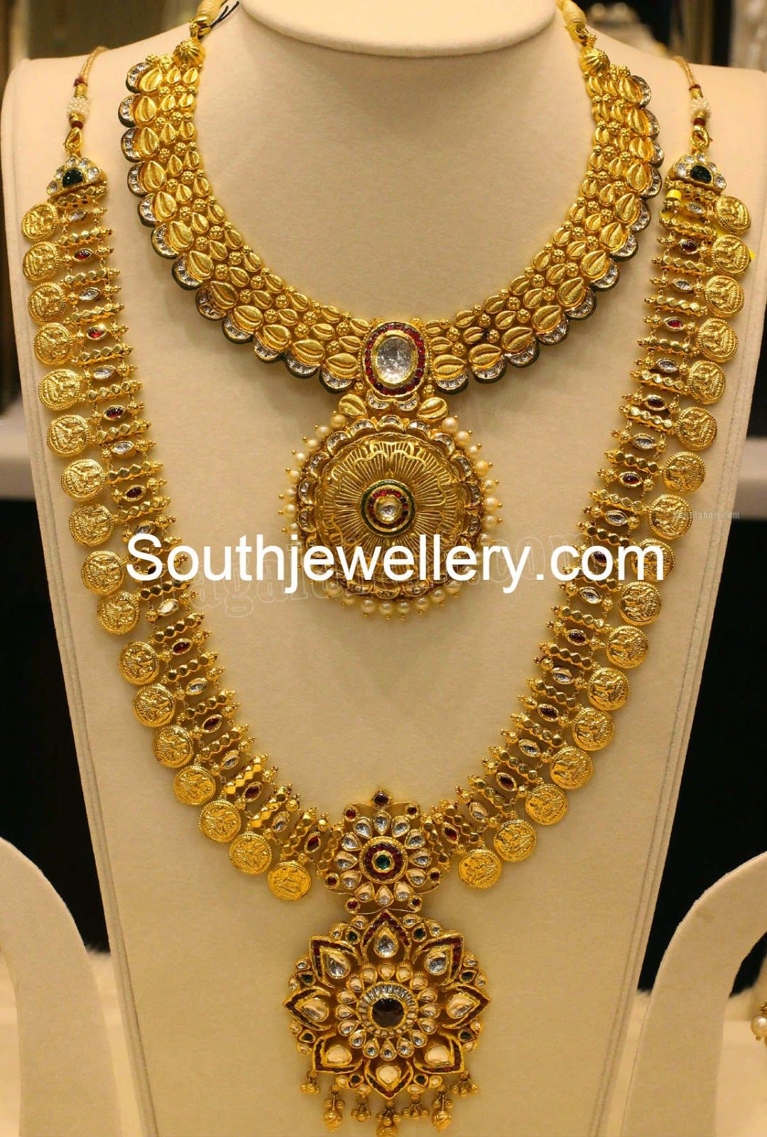 Latest gold necklace designs in grams pachi necklace latest jewellery - Jewellery Designs Gold Haram Designs By Manepally