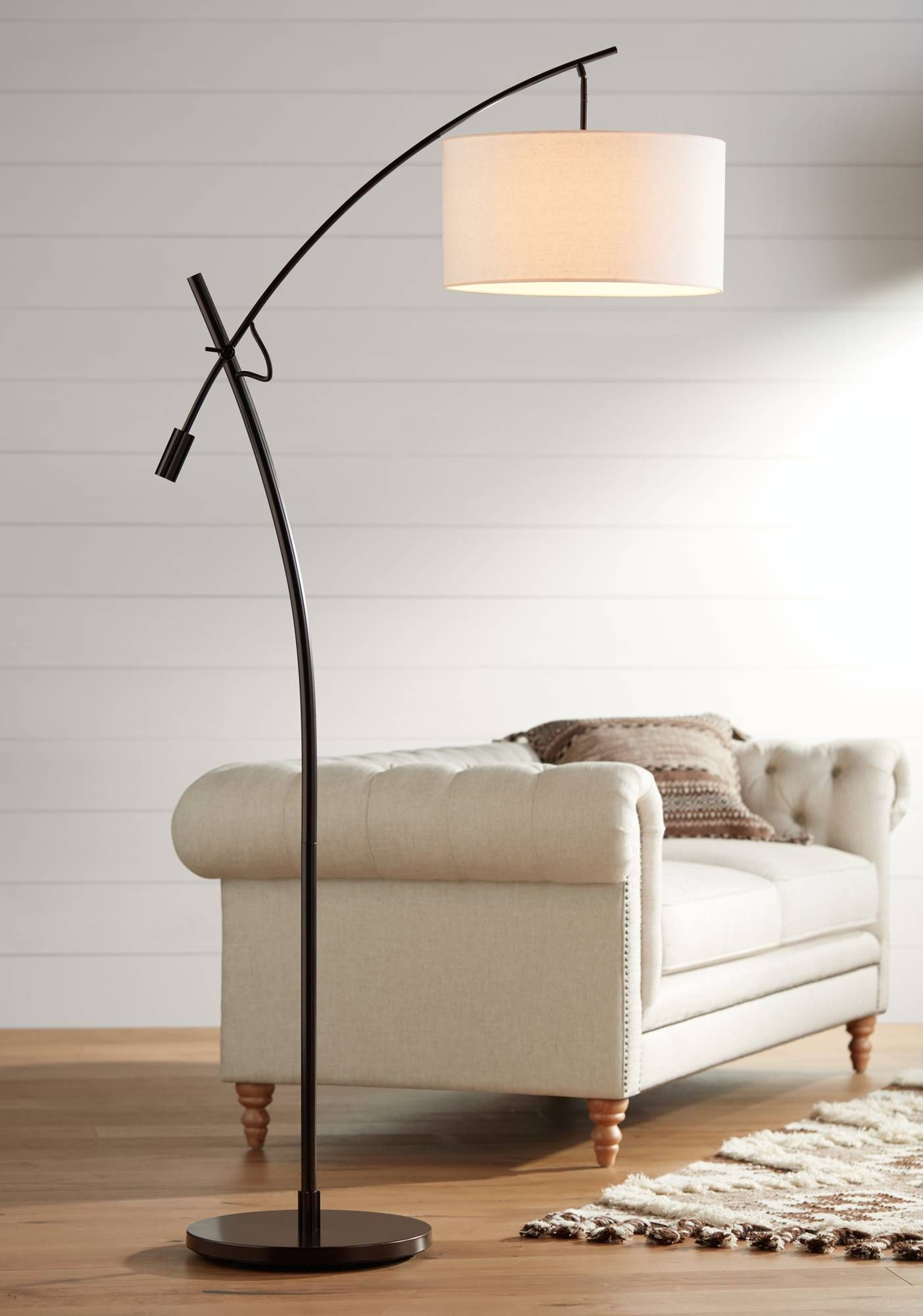 lamp arc products arch floor of natural shades rustic wood light modern