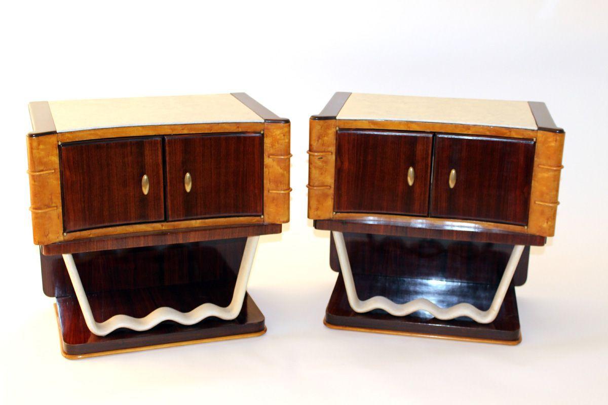 Nachttisch Rund Moderne Nachtkastchen Nachtkonsole Nussbaum