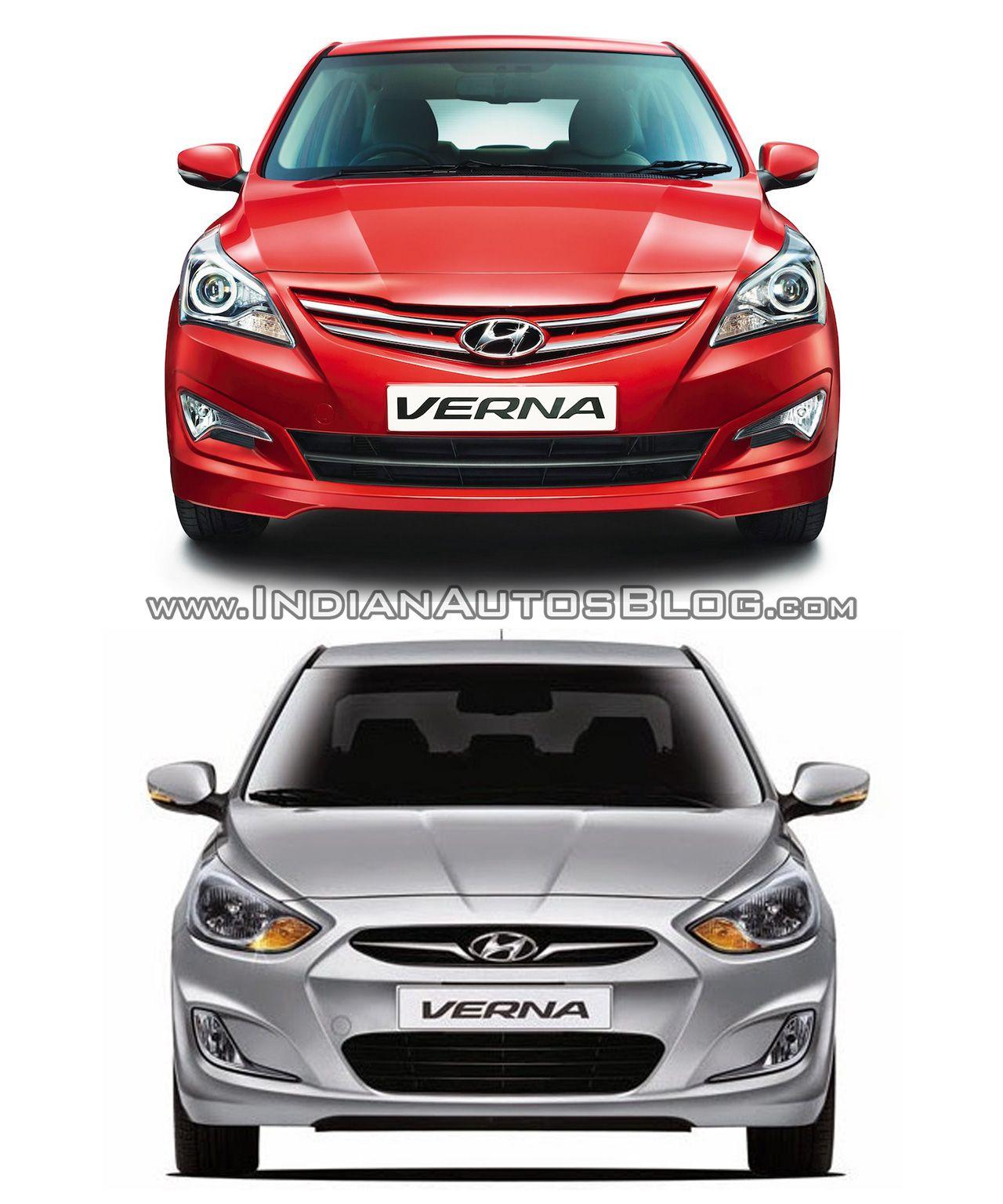 Hyundai Verna Facelift Vs Hyundai Verna Old Vs New Hyundai Cars Hyundai Olds