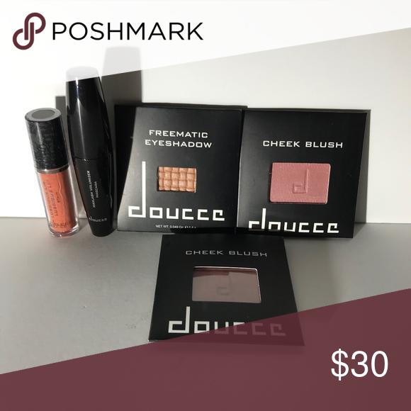 139891af3f5 Doucce Cosmetics Blush Maxlash Mascara Freematic Maxlash Volumizer Mascara  0.20 oz QTY 2 Cheek Blush in RSVP 0.12 oz Luscious Lip Stain in Holiday  Getaway ...